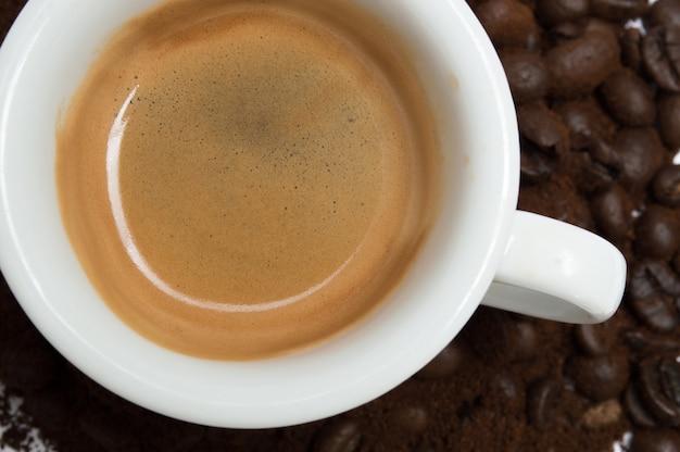 Kopje koffie, close-up