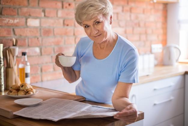 Kopje koffie is het lekkerst in de ochtend