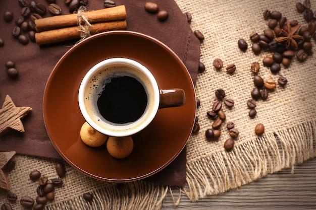 Kopje koffie op zak