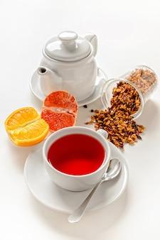 Kopje rood fruit thee.