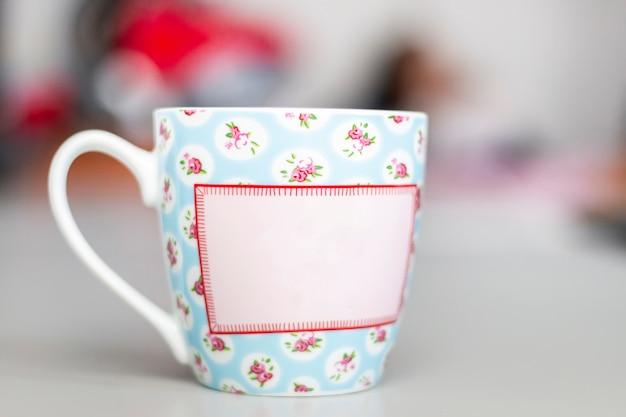 Kopje thee met handvat