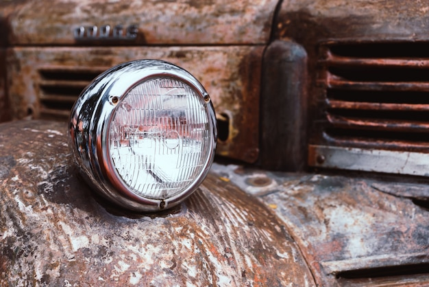 Koplamp van oude auto