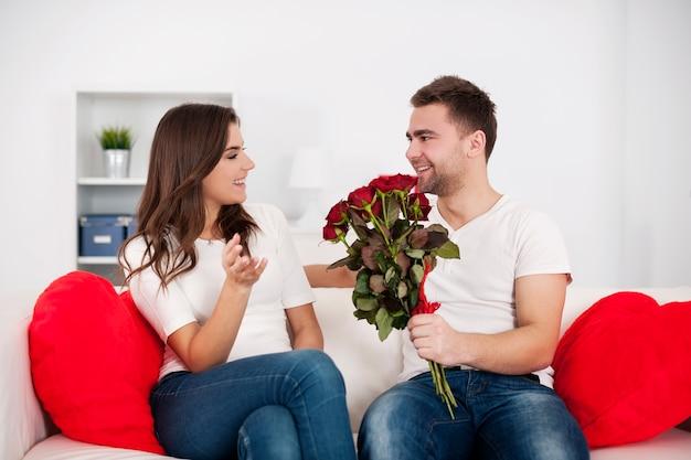 Koppel op valentijnsdag