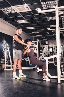 Koppel training in de sportschool