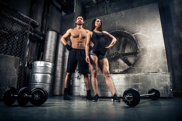 Koppel training in een sportschool