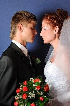 Koppel voor de bruiloft