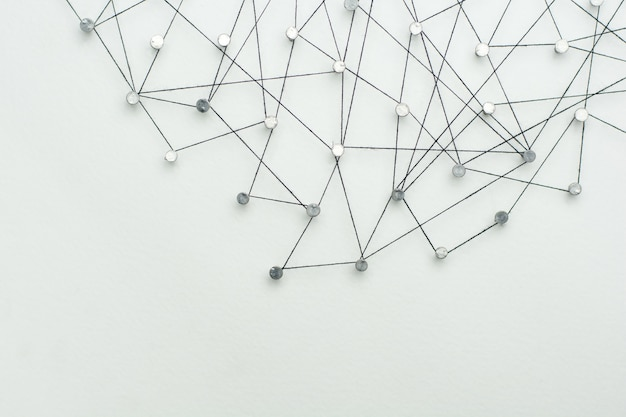Koppelingen entiteiten. netwerk, netwerken, sociale media, internetcommunicatiesamenvatting