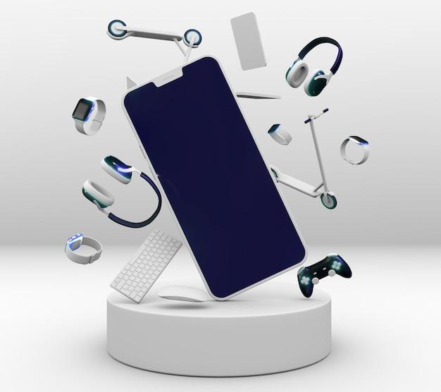 Koptelefoon en telefoon voor cybermaandag