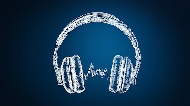 Koptelefoons luisteren naar muziek of audioboek