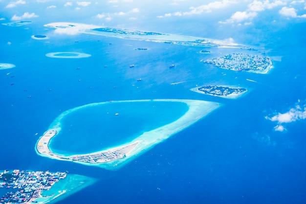 Koraal maldiven lagune landschap blauwe