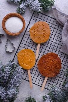 Koreaans dalgona suikerspin koekje