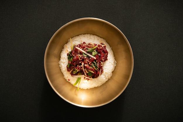 Koreaans traditioneel eten bibimbap