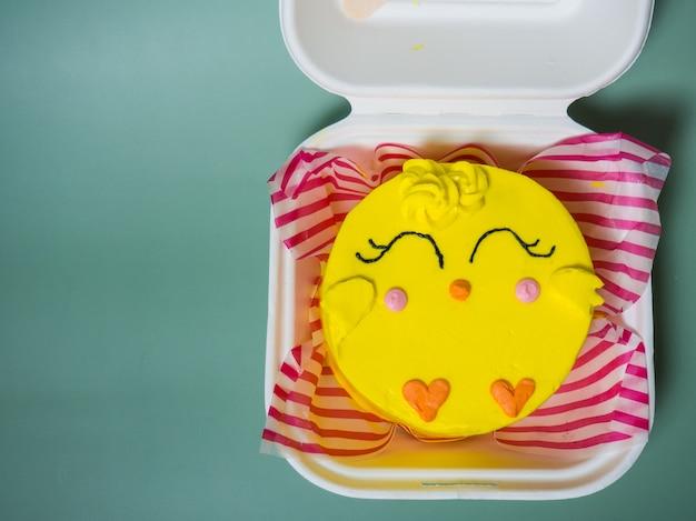 Koreaanse cake-lunchdoos, kippencake. plaats voor uw tekst