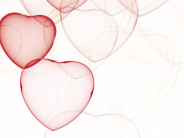 Kort fractaal achtergrond een computer-gegenereerde 2d-afbeelding, hart, liefde