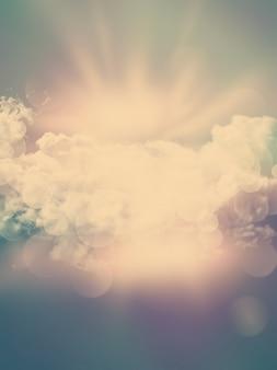Kort wolken achtergrond met vintage effect toegevoegd