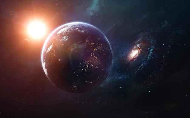 Kosmisch landschap, prachtig sciencefictionbehang met eindeloze diepe ruimte. elementen van deze afbeelding geleverd door nasa