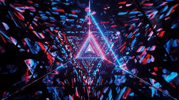 Kosmische achtergrond met blauwe en rode laserlichten - perfect voor een digitale achtergrond