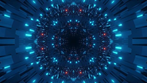 Kosmische achtergrond met kleurrijke blauwe en rode laserlichten - perfect voor een digitaal behang