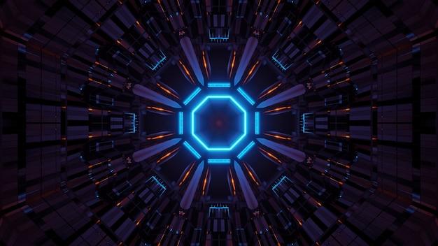 Kosmische achtergrond met kleurrijke laserlichten - perfect voor een digitaal behang
