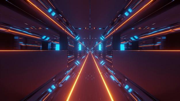 Kosmische achtergrond met kleurrijke laserlichten