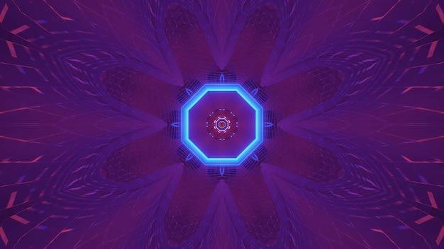 Kosmische achtergrond met kleurrijke paarse en blauwe laserlichten - perfect voor een digitaal behang