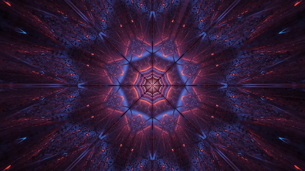 Kosmische achtergrond van paarse en zwarte laserlichten