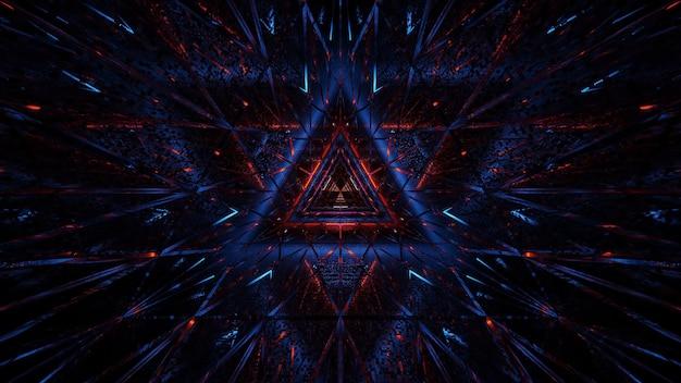 Kosmische achtergrond van zwart-blauwe en rode laserlichten - perfect voor een digitaal behang