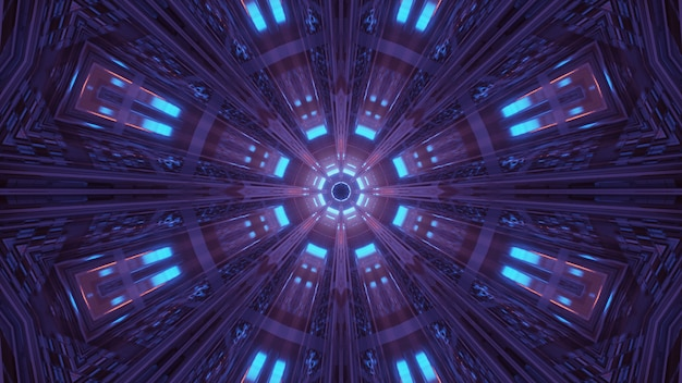 Kosmische omgeving met kleurrijke neon laserlichten - perfect voor een digitaal behang