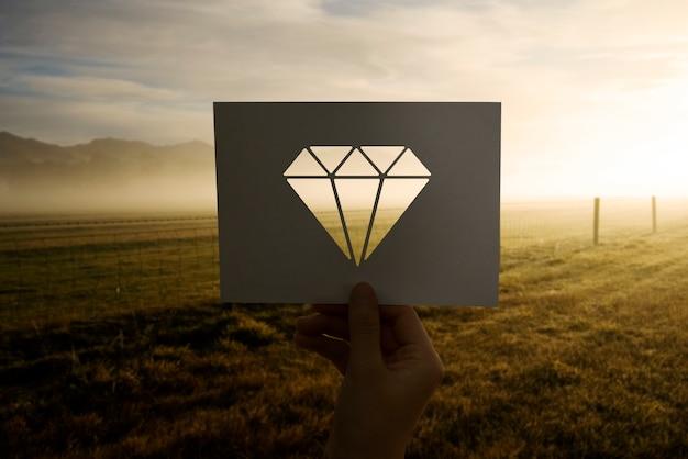 Kostbaarheden sieraden geperforeerd papier diamant