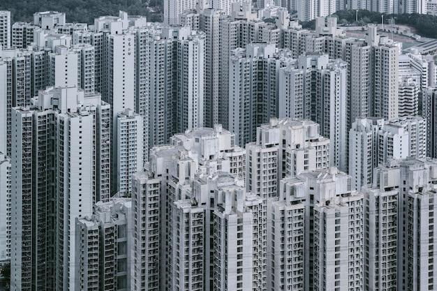 Kowloon uitzicht vanaf lion rock hill