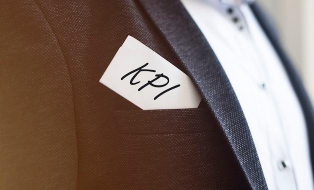 Kpi acroniem inscriptie. belangrijkste prestatie-indicator concept.