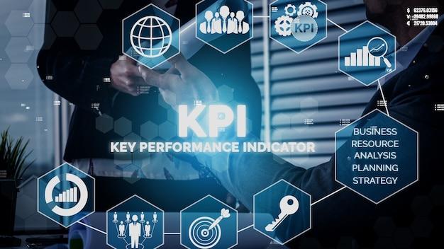 Kpi key performance indicator voor business conceptueel