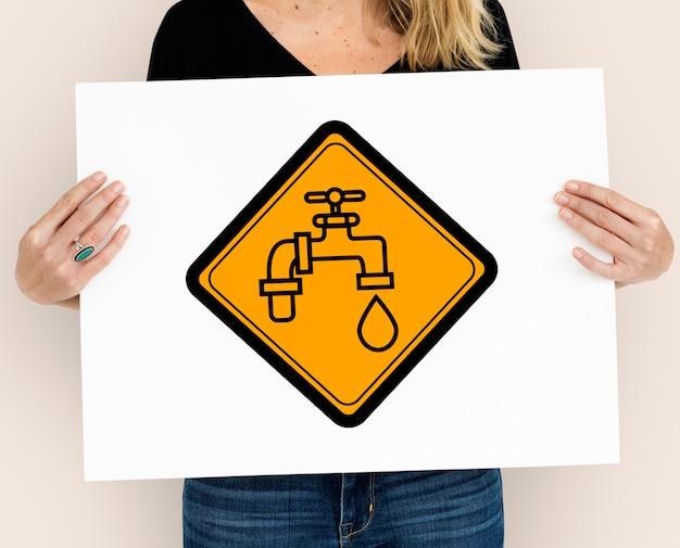 Kraan waterkraan druppel pictogram teken