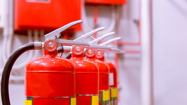 Krachtig industrieel brandblussysteem.