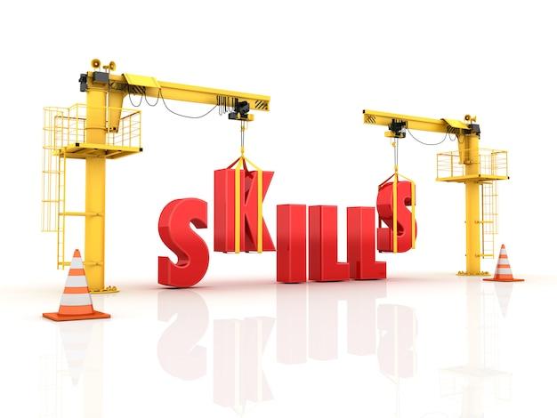 Kranen die het skills word bouwen