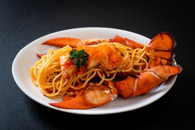 Kreeft spaghetti met garnalen eieren