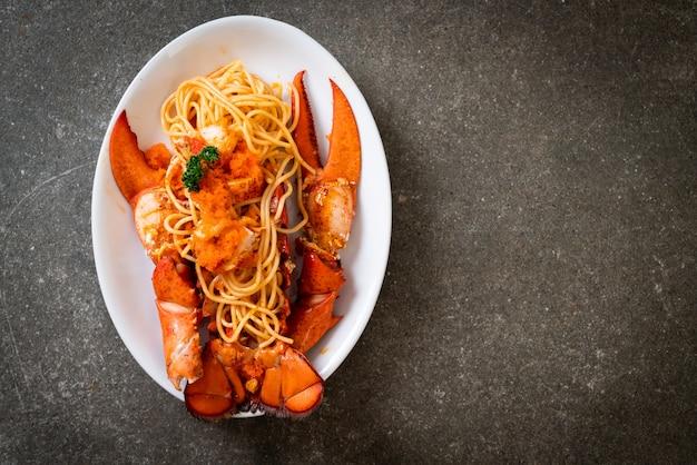 Kreeftenspaghetti met garnalenei