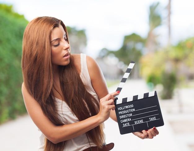 Krijtbord actrice vriendelijke zwarte ster
