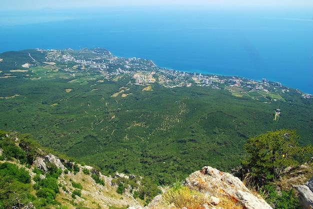 Krim-bergen en bos van de zomerochtend