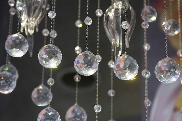 Kristallen deel van kroonluchter, kunstfoto