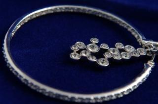 Kristallen oorbellen, diamant