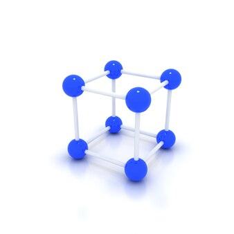 Kristalrooster op wit wordt geïsoleerd dat