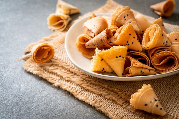 Krokant kokosbroodje - aziatische snack