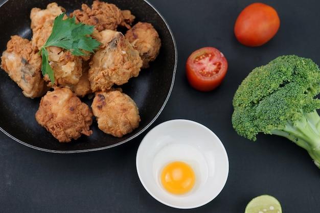 Krokante huisgemaakte gebraden kip