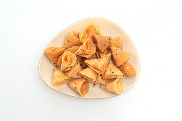 Krokante kokosrol - aziatische snack