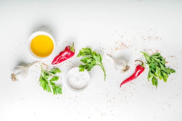 Kruid en specerijen koken achtergrond