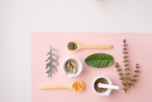 Kruiden organisch medicijnproduct.