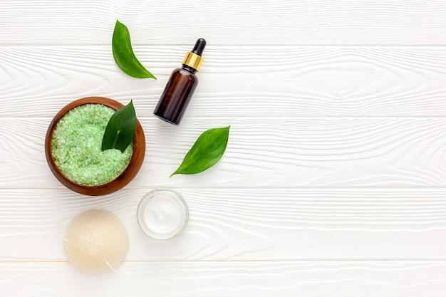Kruiden organische cosmetische set voor zelfgemaakte spa