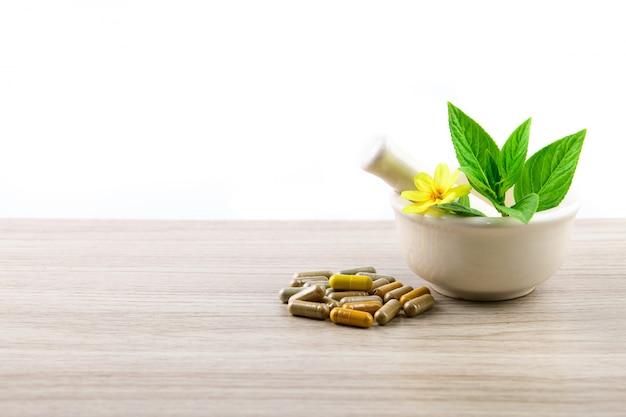 Kruidencapsule, natuurlijk supplement van kruiden