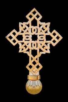 Kruis geïsoleerd op zwart